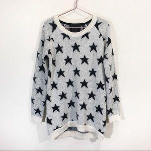 Maison Scotch Mohair Star Print Tunic Sweater